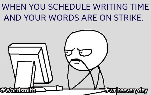 A writing schedule takes trial and error.